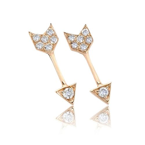 Diamond Mini Arrow Stud