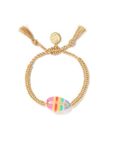 Rainbow Stripe Shell Bracelet