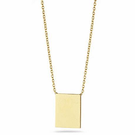 Rectangle Plate Necklace