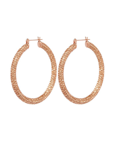 Rose Gold and Peach crystal Amalfi Hoops