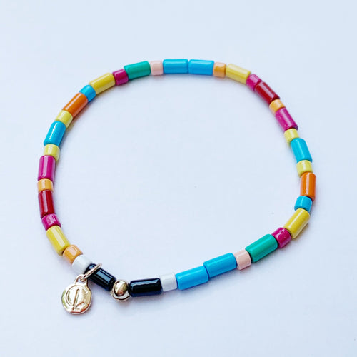 Seashore Tube Bracelet Rainbow