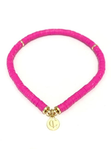 Seaside Skinny Bracelet Bright Pink