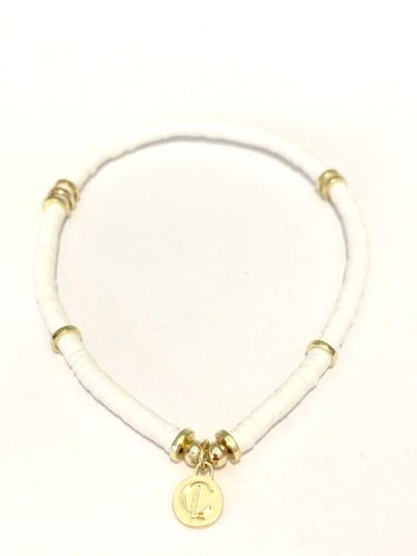 Seaside Skinny Bracelet White