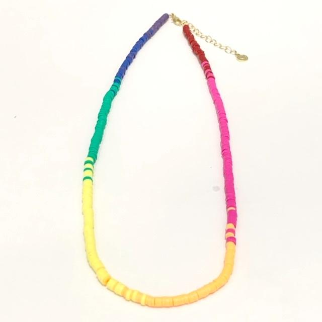 Ombre seaside skinny necklace