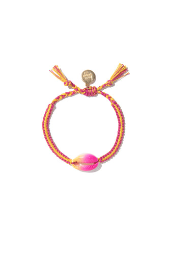 Tie Dye Shell bracelet (Pink/Orange)