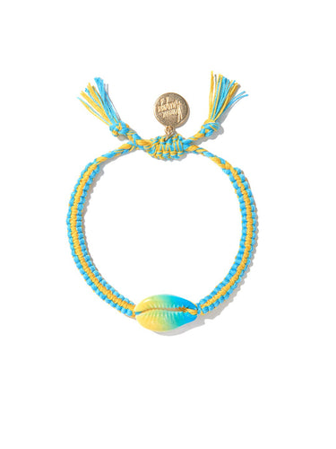 Tie Dye Shell bracelet (Blue/Yellow)