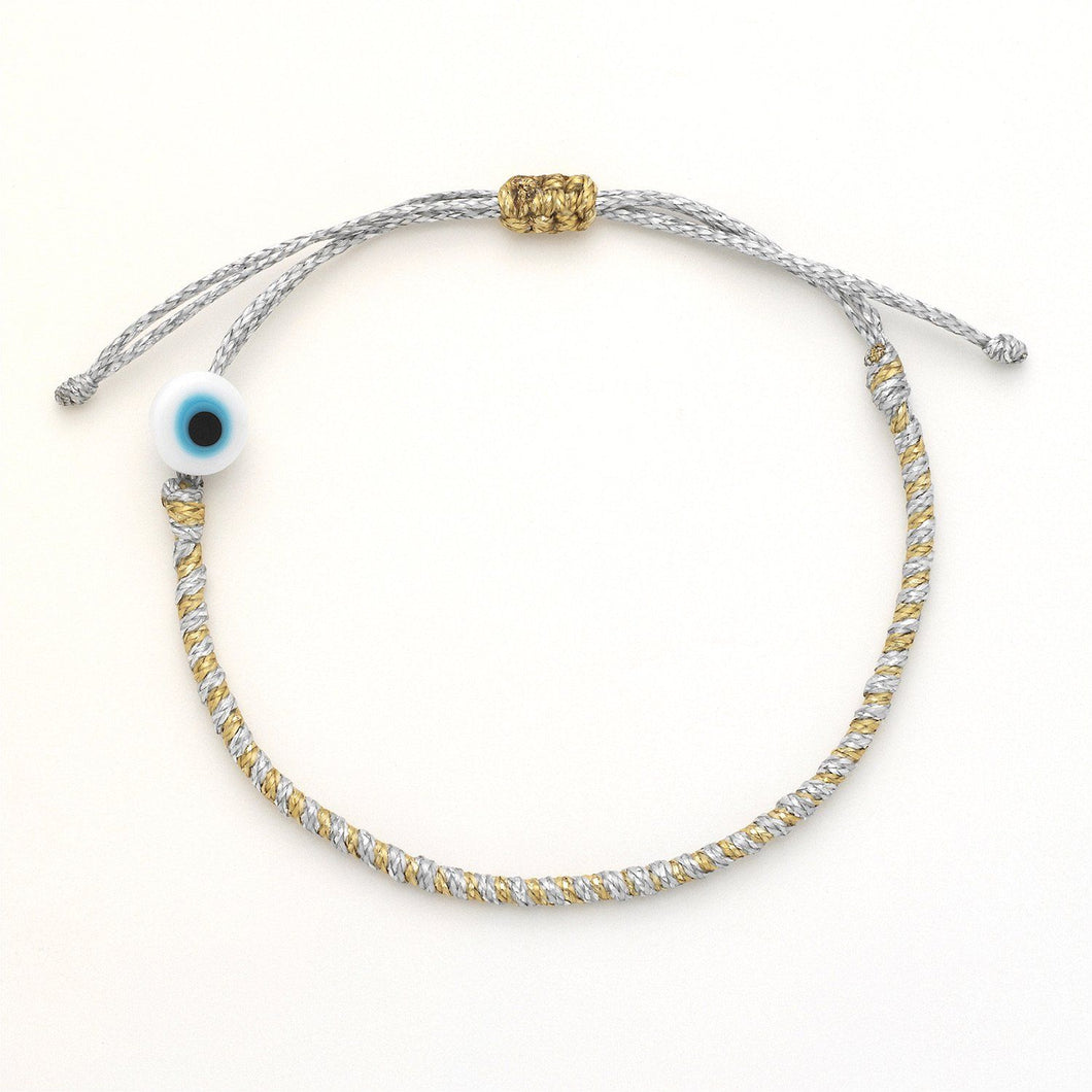 Twisted Duo Evil Eye Bracelet (Multiple colors)