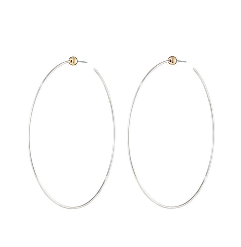 Icon Hoop Medium (Rhodium)