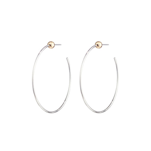Icon Hoop Small (Rhodium)