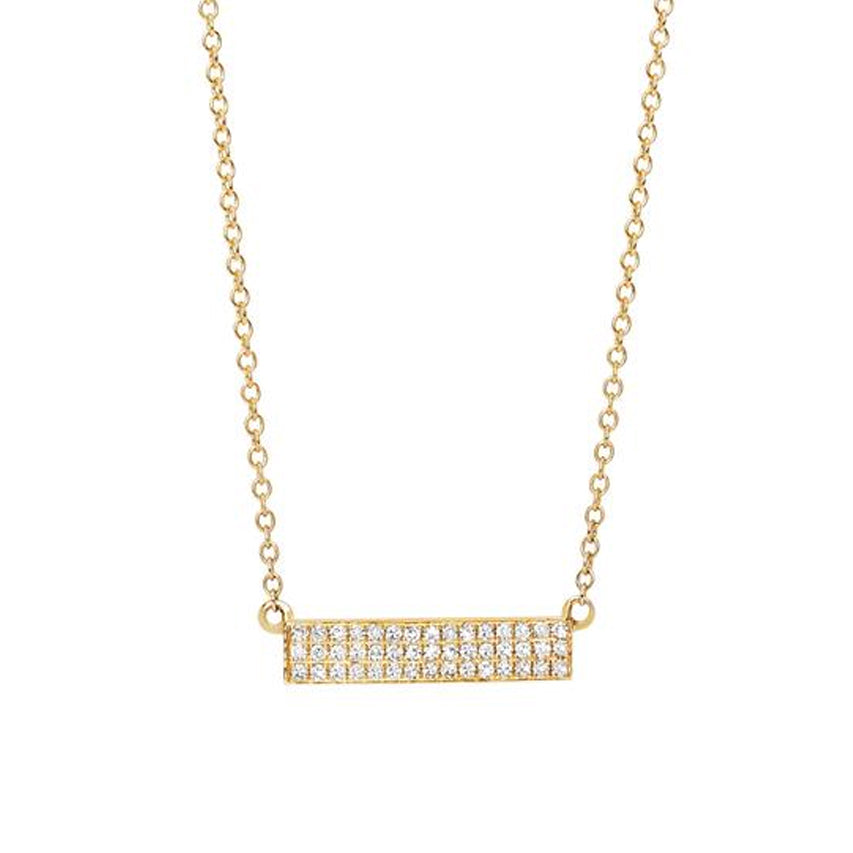 Diamond Mini Jumbo Bar Necklace
