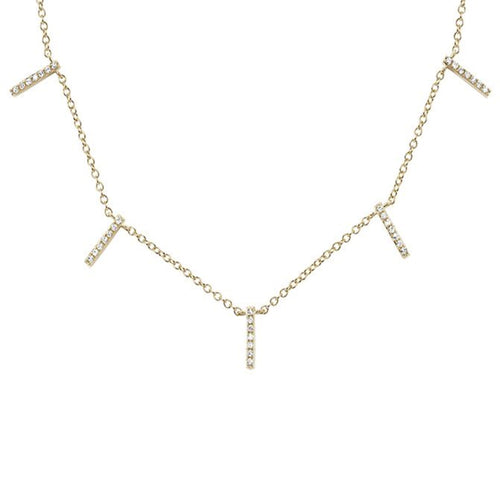 Diamond 5 Bar Necklace