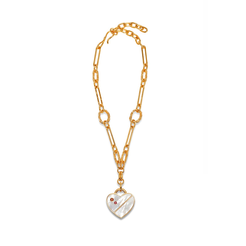 Mother of Pearl Venice Heart Necklace