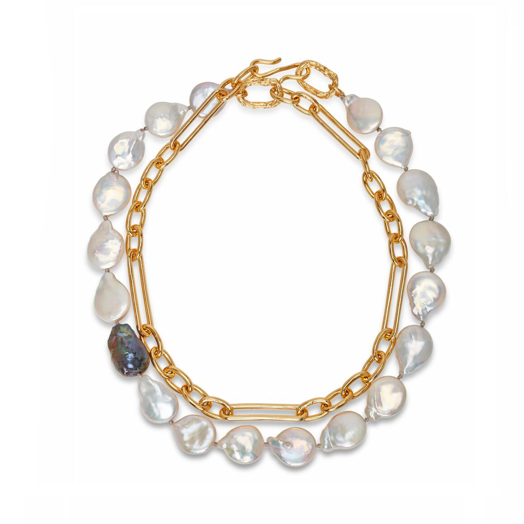 Harbor Necklace in Pearl