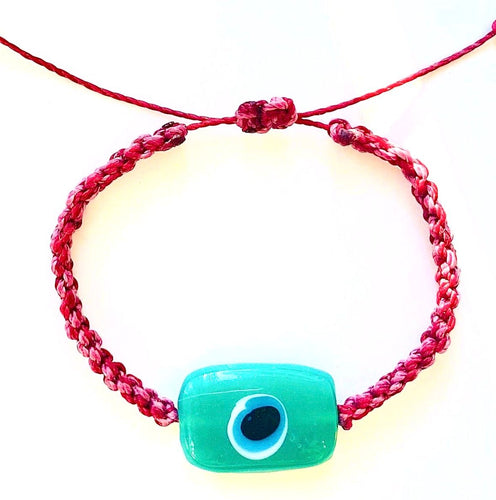Watermelon Ceramic Evil Eye Bracelet