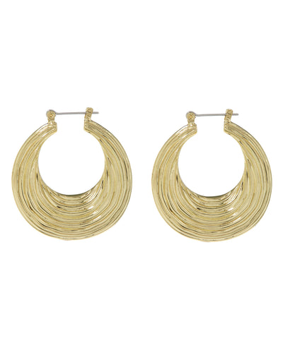 Wave Hoop in Yellow Gold