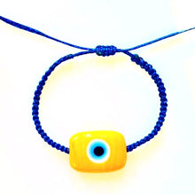Yellow Ceramic Evil Eye Bracelet