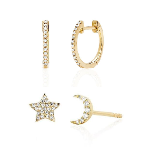 Star Moon and Diamond Set