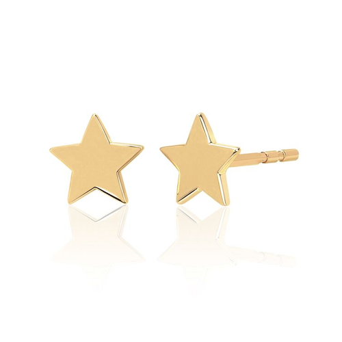 Gold Mini Star Stud Earring