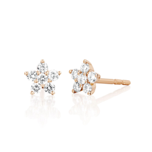 Diamond Flower Stud Earring