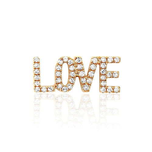 Diamond Love Stud Earring