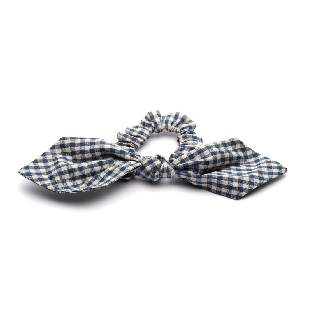Blue Gingham Scrunchies