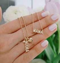 Diamond Mama Initial Necklace