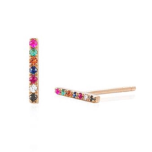 Diamond Rainbow Bar Stud