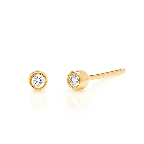 Diamond Bezel Stud