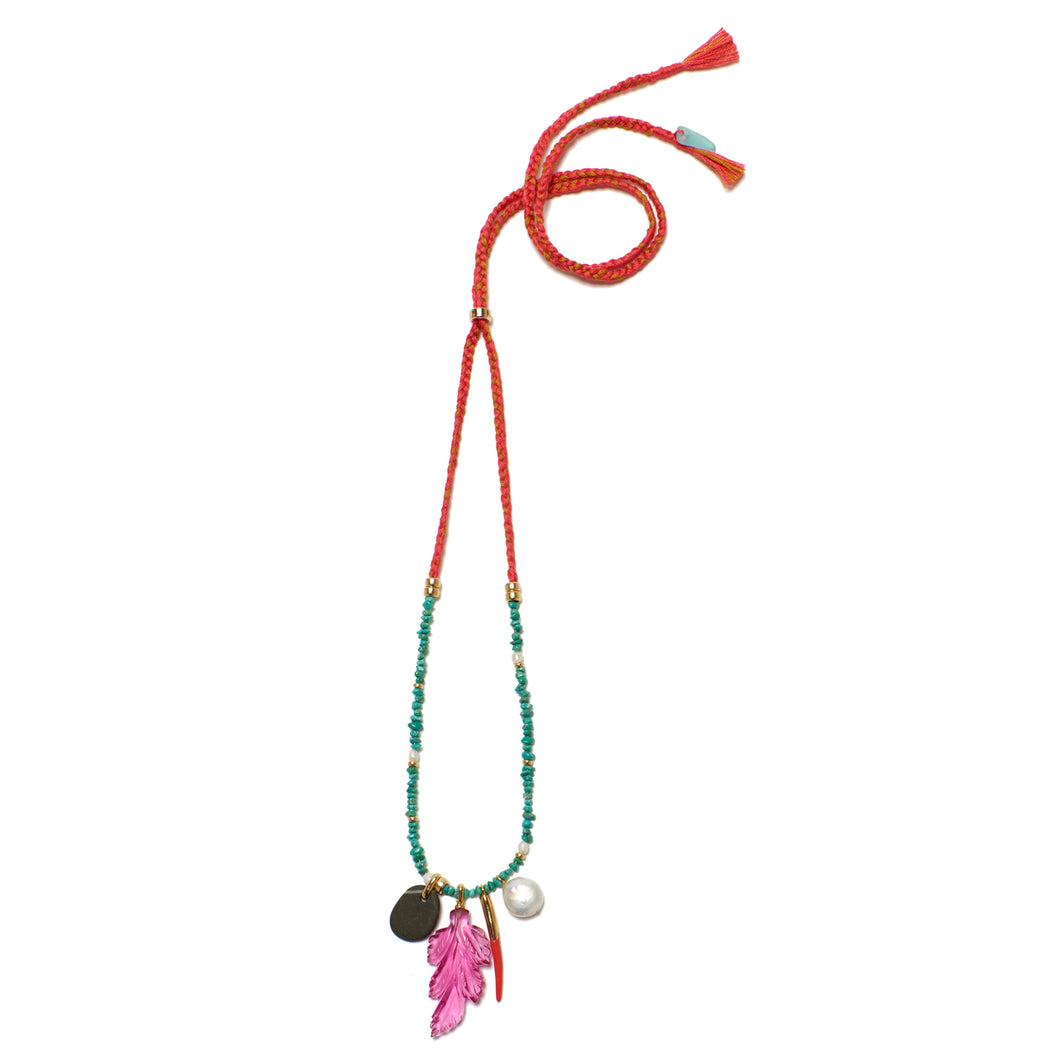 Neon Reef Charm Necklace
