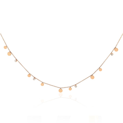 Gold and Diamond Confetti Necklace