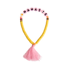 "Beaded ""Namaste"" Bracelet (Or Pick Your Own Saying)"