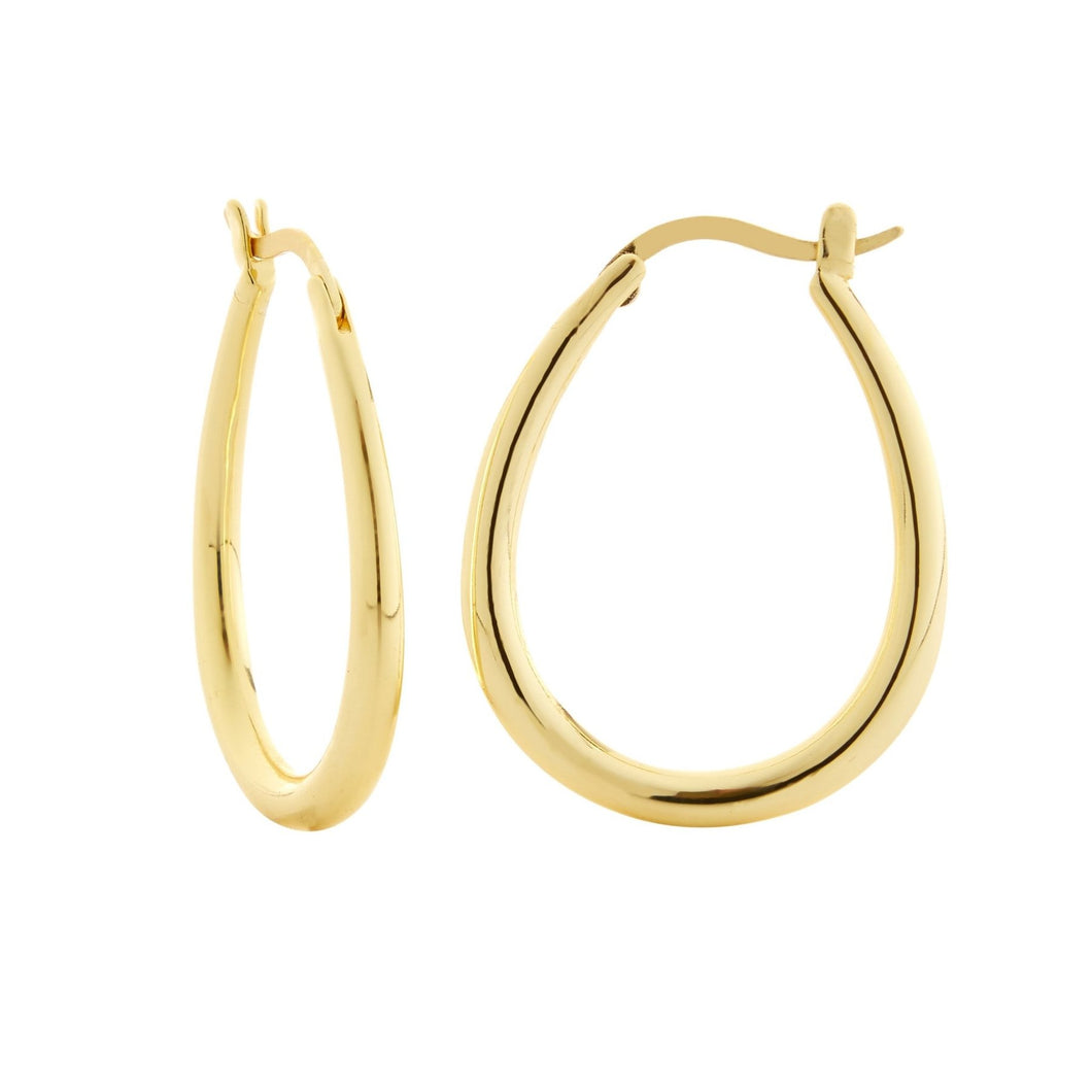 Oval Hoops Gold