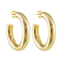 "1.5"" perfect gold hoop"