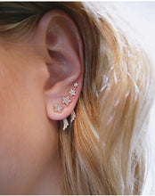 Diamond Shooting Star Stud Earring