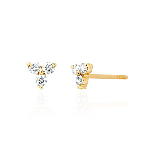 Diamond Trio Stud