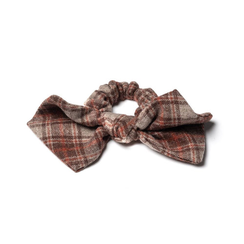 Stella Brown Plaid Scrunchies