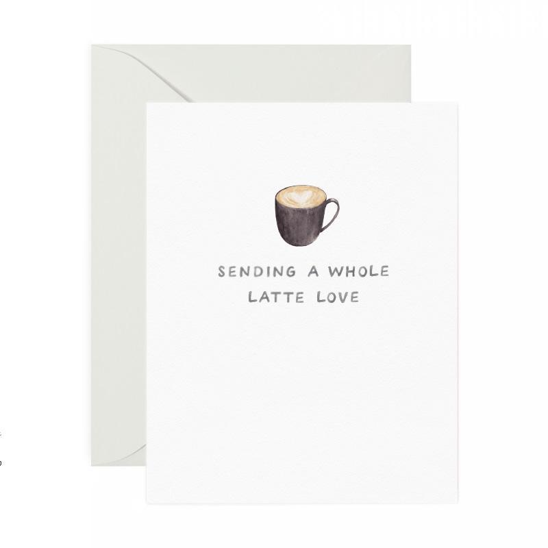 A Whole Latte Love Card-Greeting Cards-Miss Rosie Co.