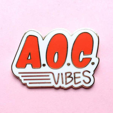 AOC Vibes Enamel Pin-Enamel Pins-Miss Rosie Co.