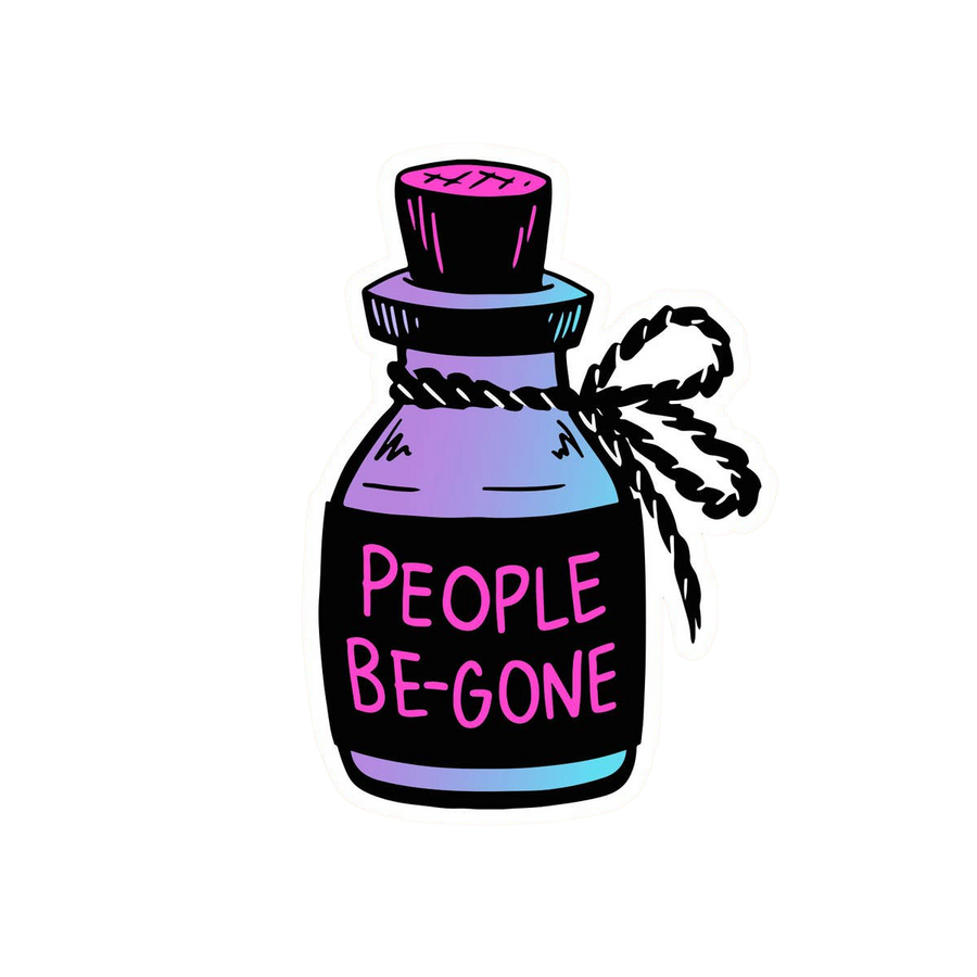 People Be Gone Sticker