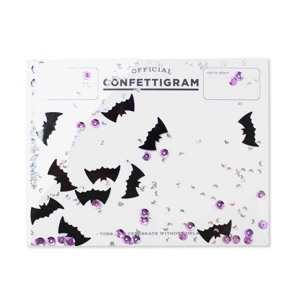 Bats Confettigram-Greeting Cards-Miss Rosie Co.