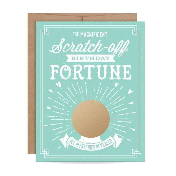 Birthday Fortune Scratch-Off Card-Greeting Cards-Miss Rosie Co.