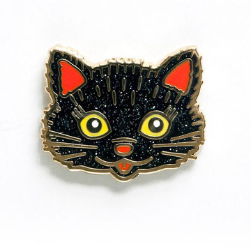 Black Cat Enamel Pin-Enamel Pins-Miss Rosie Co.
