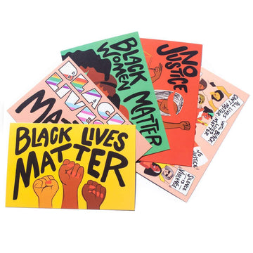 Black Lives Matter Postcards-Postcards-Miss Rosie Co.