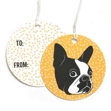 Boston Terrier Gift Tags-Gift Tag-Miss Rosie Co.