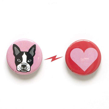 Boston Terrier & Heart Magnet Set-Magnets-Miss Rosie Co.