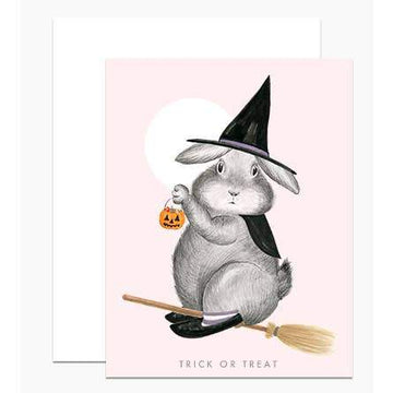 Bunny Witch Card-Greeting Cards-Miss Rosie Co.