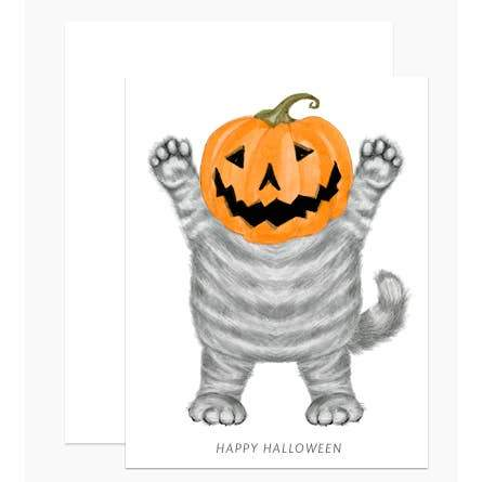 Cat O'Lantern Card-Greeting Cards-Miss Rosie Co.