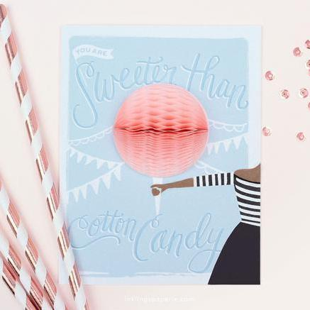 Cotton Candy Pop-up Card-Greeting Cards-Miss Rosie Co.