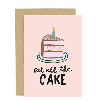 Eat All The Cake Birthday Card-Greeting Cards-Miss Rosie Co.