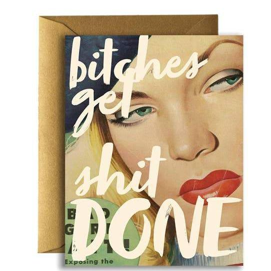 Get Sh*t Done Card-Greeting Cards-Miss Rosie Co.